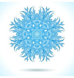Modern mandala or snowflake design vector