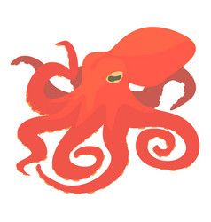 Octopus icon cartoon style vector