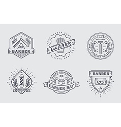 Retro design logotype set diy handmade craft art vector