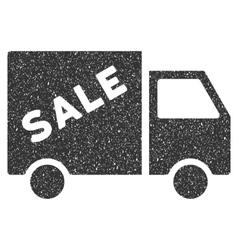 Sale Van Icon Rubber Stamp vector image