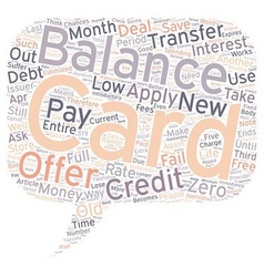 Save money with a balance transfer credit card vector