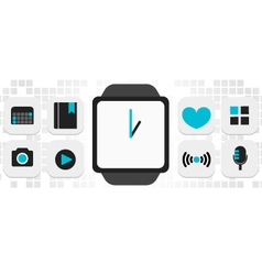 Smart-watch smart phone technology vector