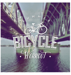 summer bicycle workout poster vector image