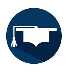 Symbol cap graduation education online icon vector