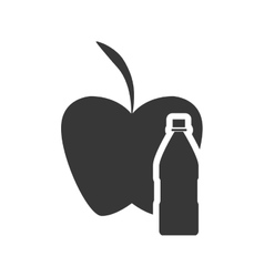 Apple drink healthy food design vector