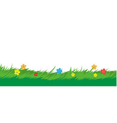 nature background grass foliage and flower plant vector image