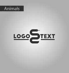 black and white style icon snake logo vector image