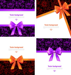 Elegant backgrounds with bow vector