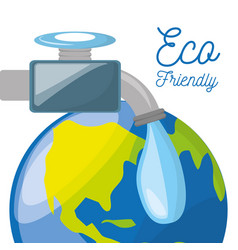 save water for the planet conservation vector image