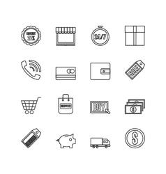 259online shopping outline icon vector