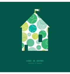 Abstract green circles house silhouette vector