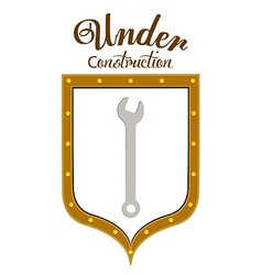 Under construction digital design vector