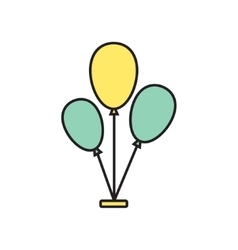Balloons icon eps10 vector