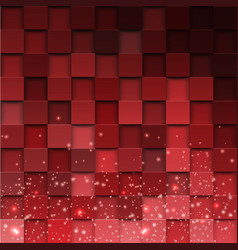 Square mosaic 3d vintage colorful texture vector
