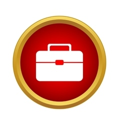 Suitcase icon simple style vector