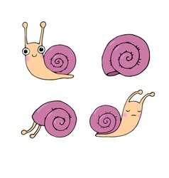 A set of cute little snails vector