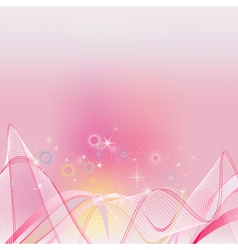 Abstract shine pink clip art vector image vector image
