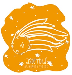asteroid drawn vector image vector image