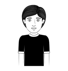 Black silhouette guy with t-shirt vector