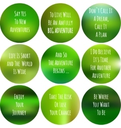 Blurred inspiration set of round posters about vector