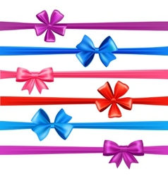 Bows And Ribbons Set vector image vector image