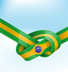 Brazil ribbon flag on background vector