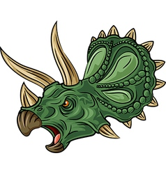 Cartoon of angry triceratops isolated vector image