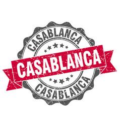 Casablanca round ribbon seal vector