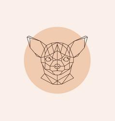 chihuahua head geometric triangular trendy stile vector image vector image