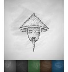 Chinaman icon hand drawn vector