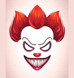 creepy clown mask vector image