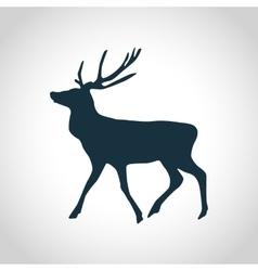 Deer black silhouette vector