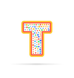dots and letter t logo with circles and dots vector image vector image