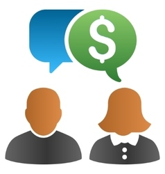 Financial chat people gradient icon vector