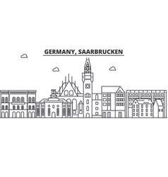 germany saarbrucken architecture line skyline vector image