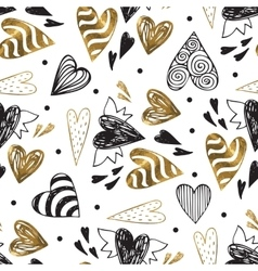 Golden seamless pattern with the image of tribal vector