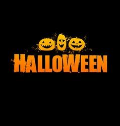 Halloween logo vector image vector image