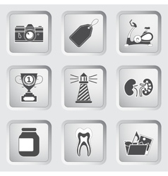 Icons on the buttons for Web Design Set 9 vector image vector image