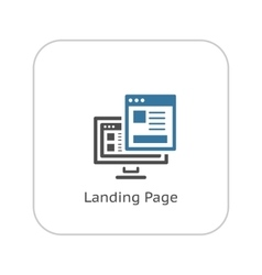 Landing Page Icon Flat Design vector image