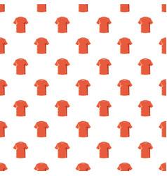 orange soccer shirt pattern vector image