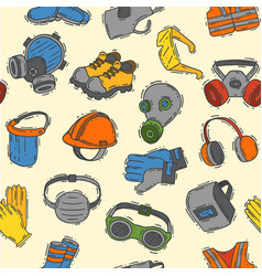 protection clothing safety industry icons vector image