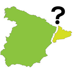 Referendum spain - catalonia vector