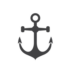 Sea anchor icon vector