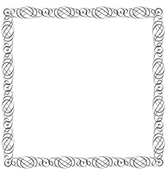 Simple calligraphic frame for design vector