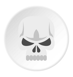 skull icon circle vector image vector image