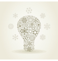 Snowflake a bulb vector image vector image