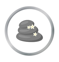 Spa stone icon of for web and vector image vector image