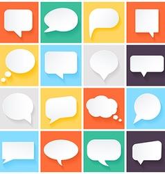 speech bubbles in flat design vector image vector image