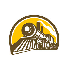 Steam locomotive train icon vector