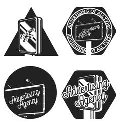 Vintage advertising agency emblems vector